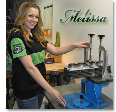 Melissa Machine shows our Boring Machine